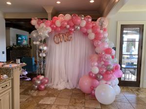 Girly girl organic balloon photo backdrop