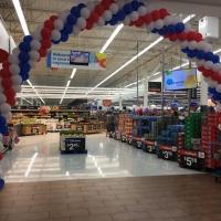 Inside Patriotic Balloon Archway Walmart
