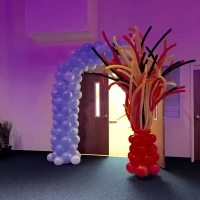 Custom Inside Magical Balloon Arch - Fire & Ice