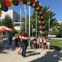 Park Entrance Colorful Balloon Arch