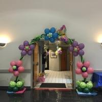 Custom Flower Fun Balloon Arch
