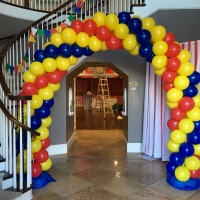 Zephyr Interior Colorful Balloon Arch