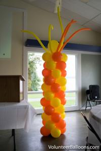 Balloon decorating - balloon column