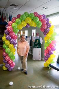 Balloon decorating - balloon arch